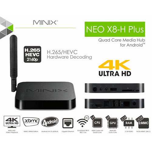 Android TV Box Minix Neo X8-H Plus Chính Hãng Giá Rẻ
